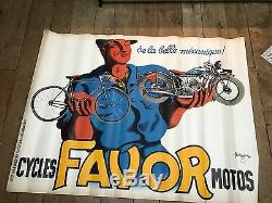 Affiche Cycle Favor Illustré Bellenger 120/160