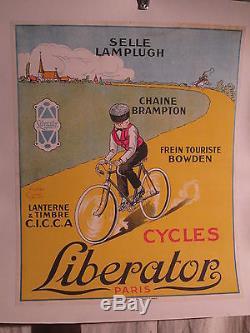 Affiche Cycle Liberator Garconnet Alsace Mignon