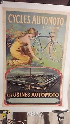 Affiche Cycles Automoto Tamagno Belle Femme Usine