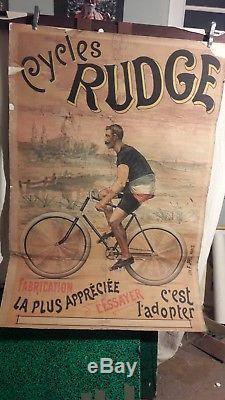 Affiche Cycles Rudge Debut De Siecle Rare