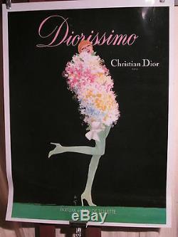 Affiche Diorissimo Gruau Plastifiee Superbe