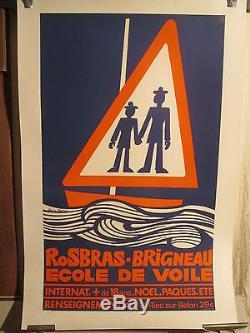 Affiche Ecole De Voile Bretagne Marins