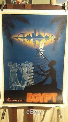 Affiche Egypte Nil Deesses Nuit Superbe