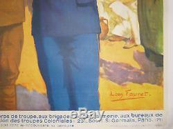 Affiche Engagez-Vous dans les Troupes Coloniales CAMBODGE Pnom-Penh Indochine