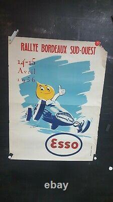 Affiche Esso Rallye Bordeaux/sud-ouest 1956 Sympa