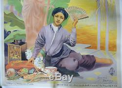 Affiche Exposition de Hanoi 1902 R. Tournon Indochine Vietnam Tonkin Indochina