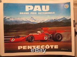 Affiche Gp Automobile Pau 1976