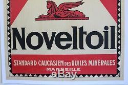 Affiche Huile Automobile Minerale Sphinxoil Novelt Oil Marseille Caucase 1920
