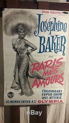 Affiche Josephine Baker Paris Mes Amours