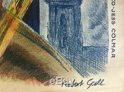 Affiche L'ALSACE N'OUBLIE PAS Ville de Colmar reçoit le GENERAL DE GAULLE 1948