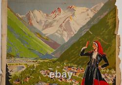 Affiche Luchon Reine Des Pyrenees Sports Hiver Sncf H Bazin Laborie Freres Z221
