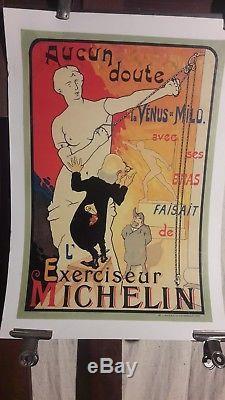 Affiche Michelin Exerciseur Venus De Milo 1900