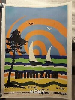 Affiche Mimizan Landes Deco Annees 1960