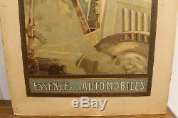 Affiche Motricine essence automobiles, garage, imp G Bataille Paris, No mucha
