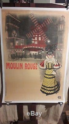 Affiche Moulin Rouge Roedel Rare Superbe 1900