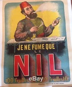Affiche Nil Papier à cigarettes D'époque