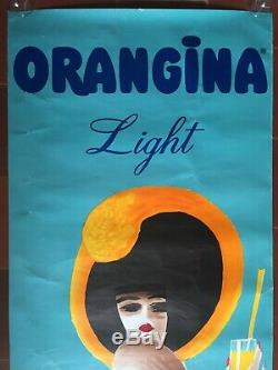 Affiche ORANGINA LIGHT par VILLEMOT Pin-Up 57x156cm 1988