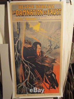 Affiche Opera Musique Berlioz Damnation De Faust Expressive