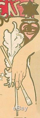 Affiche Originale Alphonse Mucha Salon des Cent La Plume 1896