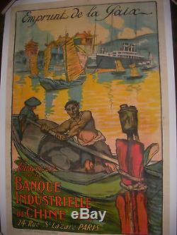Affiche Originale Banque Industrielle De Chine Emprunt De La Paix