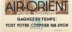 Affiche Originale Cassandre Air Orient Avions France Poste 1932