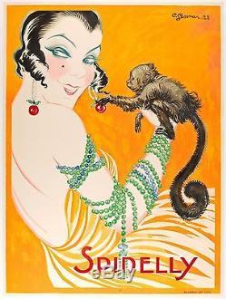 Affiche Originale Charles Gesmar Spinelly Music Hall 1922