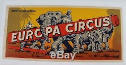 Affiche Originale Cirque Poster Circus Europa Elephant