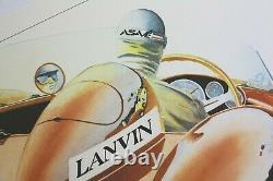 Affiche Originale Ferrari Age D'or Lanvin Autodrome Linas Monthlery Mirgalet