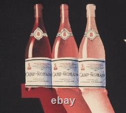 Affiche Originale Gadoud Vins Camp Romain Côtes du Rhône Laudun 1930