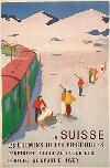 Affiche Originale Hans Jegerlehner Ski En Suisse Simplon 1950
