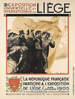 Affiche Originale Henri Bellery-Desfontaines Expo Universelle Liège 1905