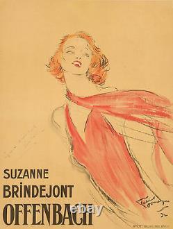 Affiche Originale Jean-Gabriel Domergue Suzanne Brindejont-Offenbach 1932
