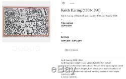 Affiche Originale Keith Haring Robert Fraser Gallery Warhol Basquiat -1983
