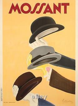 Affiche Originale Leonetto Cappiello Chapeaux Mossant 1938