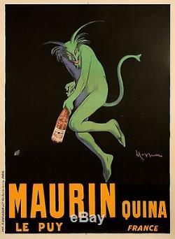 Affiche Originale Leonetto Cappiello Maurin Quina Diable Vert 1906