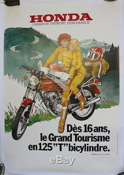 Affiche Originale Moto Honda 125 Twin 1970/80 Sl XL Cg Cb Cbx XLV Gold Wing