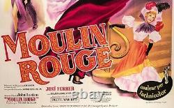 Affiche Originale Moulin Rouge Toulouse Lautrec La Goulue Jane Avril 1952