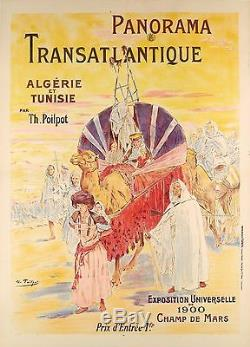 Affiche Originale Orientaliste Algérie Tunisie Expo Universelle 1900