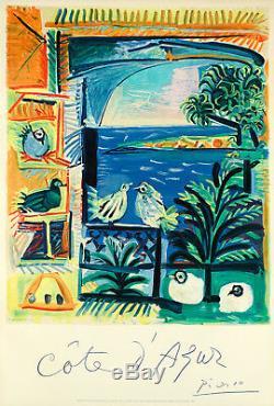 Affiche Originale Pablo Picasso Côte d'Azur Cubisme Surréalisme 1962