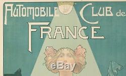 Affiche Originale Privat Livemont 5ème Salon de l'Automobile cycle sports