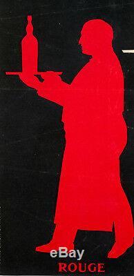 Affiche Originale Saint Raphaël Quinquina Apéritif Vin Serveurs 1930