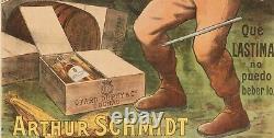 Affiche Originale Tomen Cognac Otard Dupuy & Co Liqueur Scaphandrier 1910