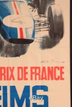 Affiche Originale ancienne ACF du Grand Prix de Reims 1965 Circuit de Gueux