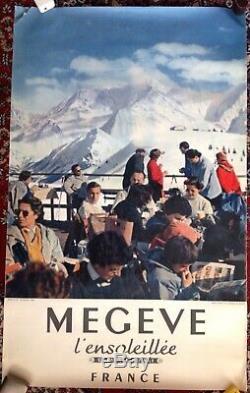 Affiche Originale de tourisme ski Megève