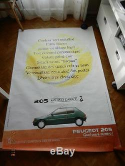 Affiche PEUGEOT 205 Roland Garros AM 89 RG