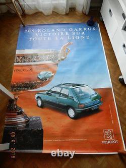 Affiche PEUGEOT 205 Roland Garros AM 92 RG