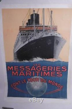 Affiche Paquebot Champollion Messageries Maritimes Sandy Hook