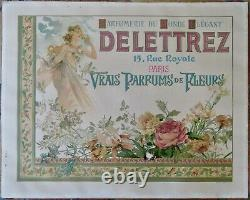 Affiche Parfums Delettrez Art Nouveau Annees 1890/1910
