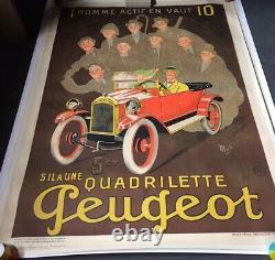 Affiche Peugeot, affiche Mich, vintage Poster, 160x120cm
