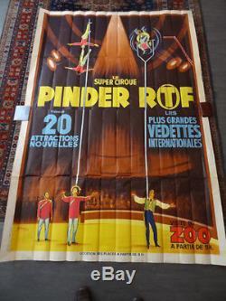 Affiche Pinder Cirque Acrobates Equilibristes Rare